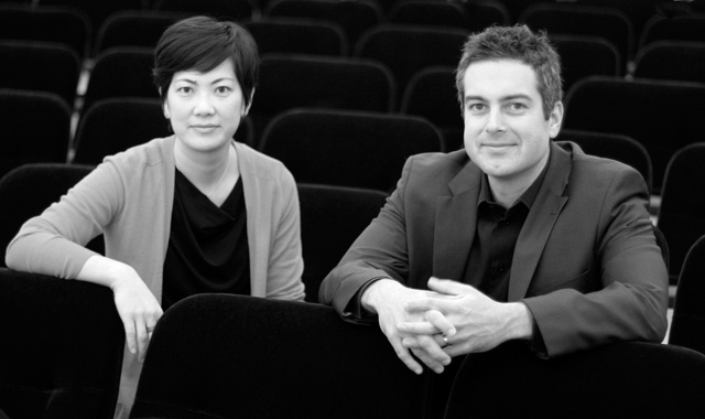 Jason Hardink and Kimi Kawashima of NOVA Chamber Music Series, photo by Laura Durham