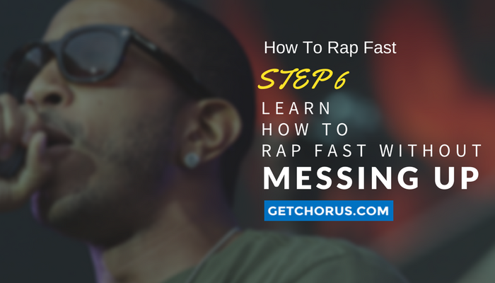 how to rap faster with out messing up