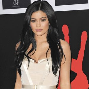Kylie Jenner White Dress Black Hair Red Carpet