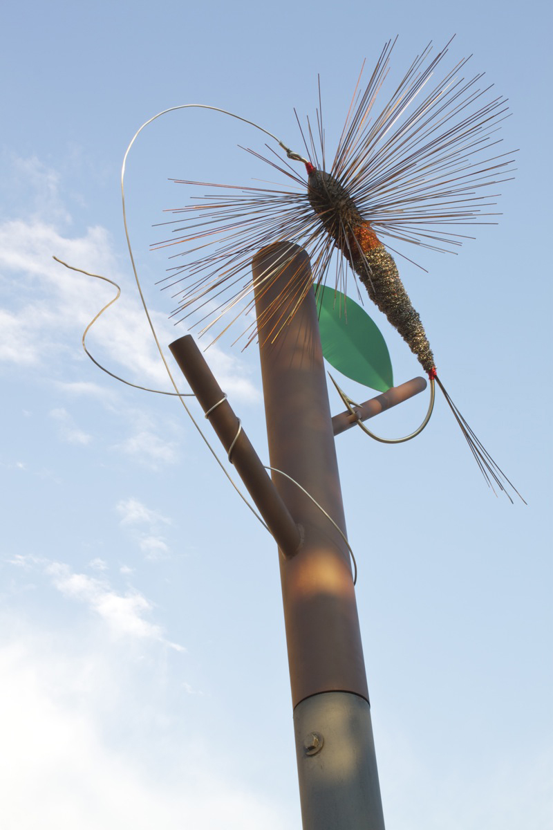 """""""Fly Snag"""" by Nathan Johansen. Photo by Kelly Green, September 2012."""