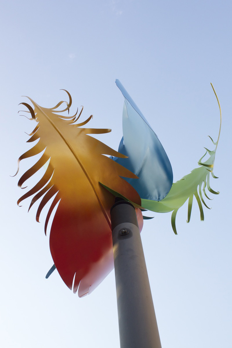 """""""Feathers in the Wind"""" by Greg Ragland. Photo by Kelly Green, September 2012."""