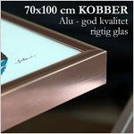 70x100 cm blank kobber aluminium skifteramme