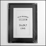 A4 - 21x29,7 cm sort fotoramme