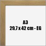 A3 - 29,7x42 cm fotoramme i eg
