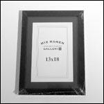 13x18 cm sort fotoramme