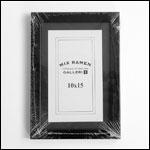 10x15 cm sort fotoramme