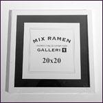 20x20 cm hvid kvadratisk fotoramme
