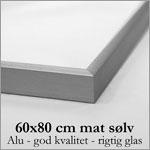 30x42 cm mat sølv aluminium skifteramme