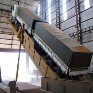 液压翻板后翻式卸车机