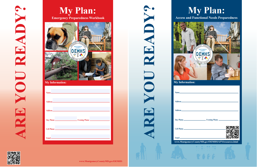 Photo of the Covers for the Are You Ready Emergency Preparedness Workbooks