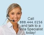 Call 949-278-5727 to speak to a Villa Specialist today!