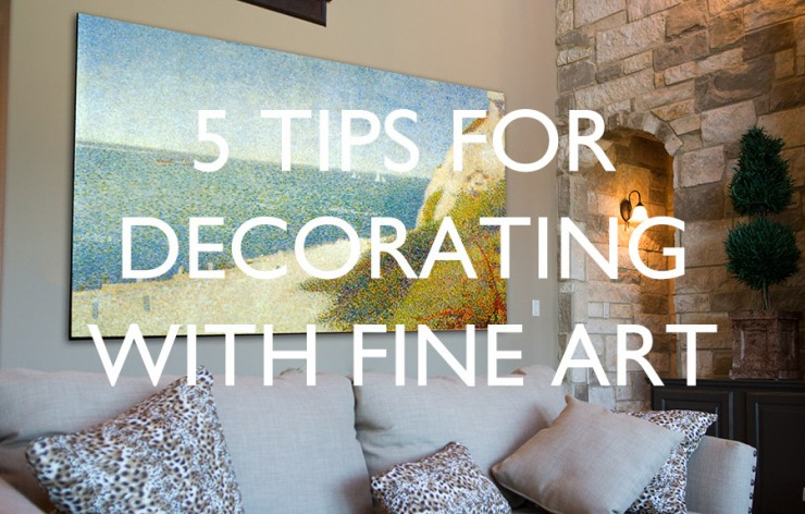 decorating with fine art