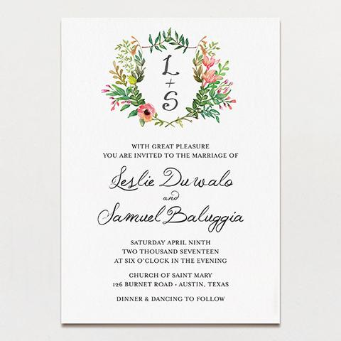 marriage invitation template for leslie and samuel