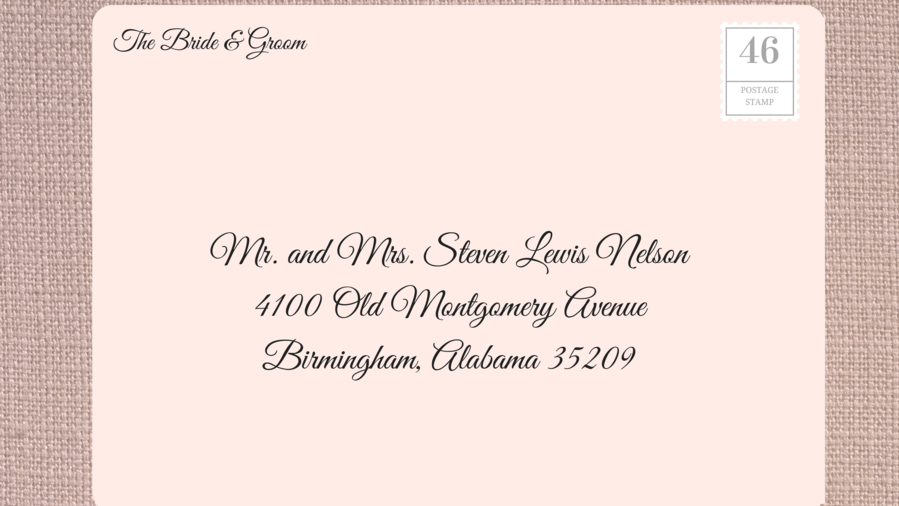 How to Address wedding invitation