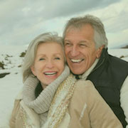 Image of an old happy couple. Patients of Seton dentist, Dr. Patel.