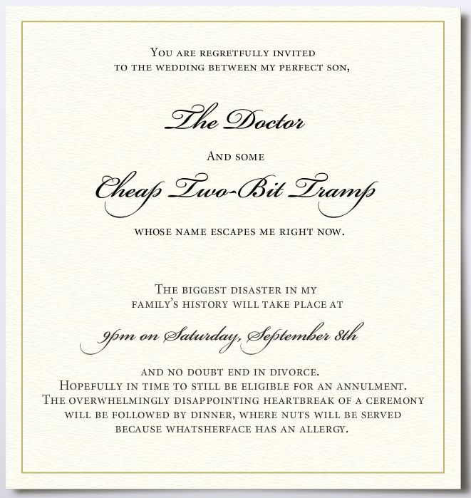 Catholic wedding invitation