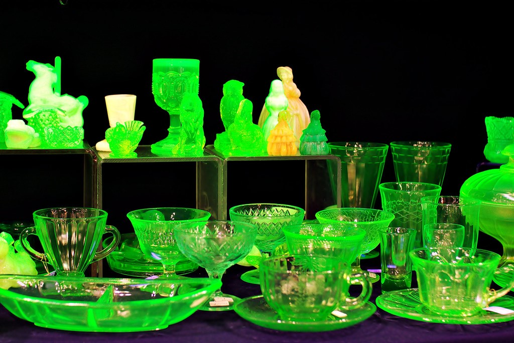 Uranium glass is a popular collectible