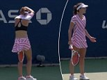 US Open officials have come under fire for reprimanding a female tennis player for taking her shirt off on court Wednesday