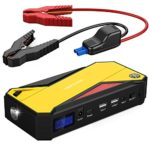 DBPOWER 600A Peak 18000mAh Portable Car Jump Starter/Battery Booster with Smart Charging Port, Compass, LCD Screen & LED Flashlight