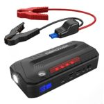 DBPOWER 800A Peak 18000mAh Portable Car Jump Starter Car Battery Booster & Charger, Phone Power Bank, Flashlight and Dual USB Ports