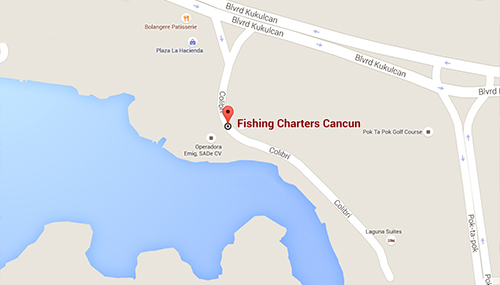 Sport Fishing Charters Cancun Mexico Map