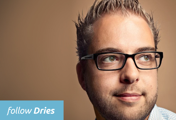 Follow Dries Buytaert, the founder of Drupal
