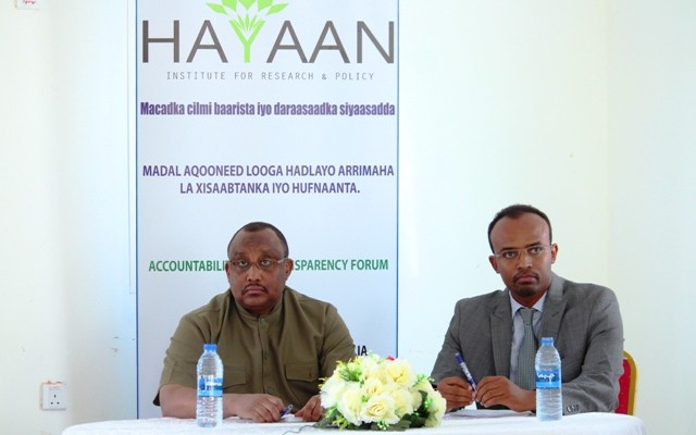 First Major Forum on Accountability and Transparency in Puntland  (with the President of Puntland)