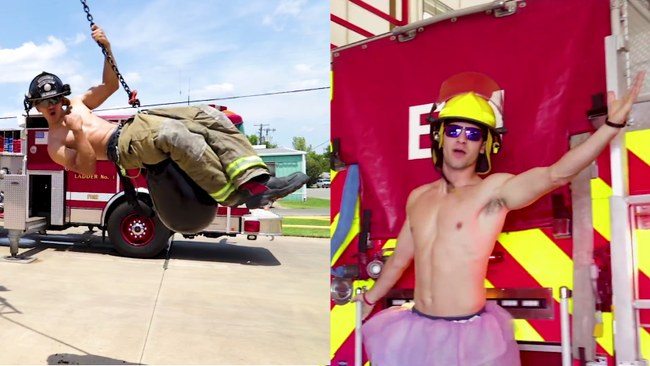 Watch: Firefighters Lip-Sync Video