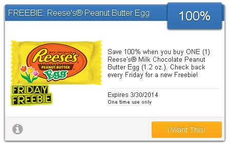 REESES FREE EASTER EGGS