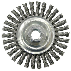 Radnor<sup>®</sup> 4 inch by 5/8 inch - 11 inch Carbon Steel Knot Wire Wheel Brush