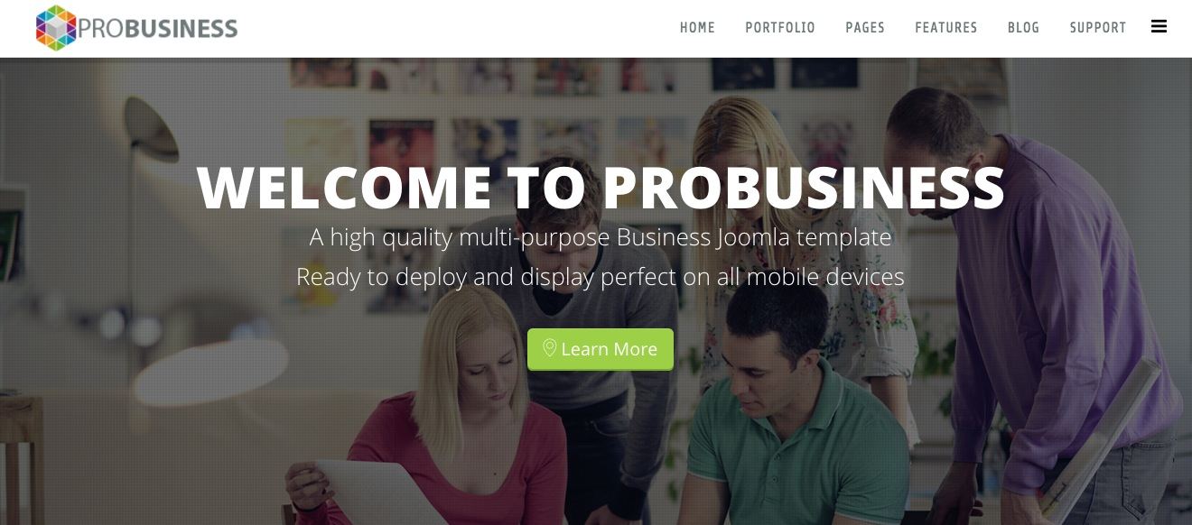 ProBusiness – A Multifunctional Business Joomla Template