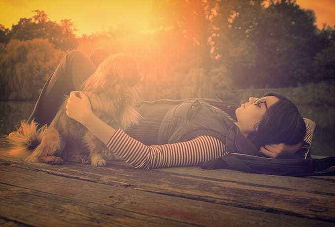 Women relaxing practicing mindfulness