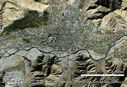 拉萨卫星地图