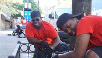Volunteers Work with New Yorkers Experiencing Homelessness to Beautify Harlem