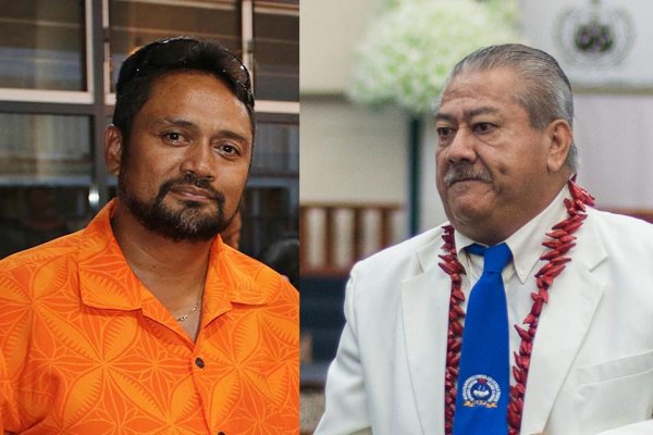 Afamasaga Pou Onesemo and Minister M.W.T.I.: Papali'i Niko Lee Hang.