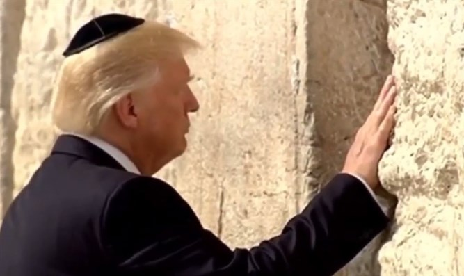 Image result for pictures of trump at western wall