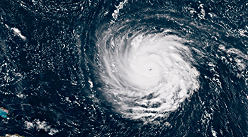 Hurricane Florence photo from space, September 10, 2018