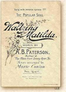 Waltzing Matilda Marie Cowan version 1903
