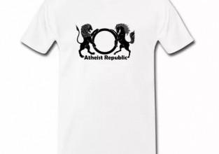 Atheist Republic Black Logo Men's Shirt