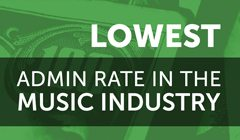 Lowest Admin Rate in the Music Industry