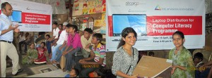 istribution of Laptops for an Education Support Center
