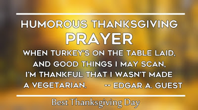 Short Happy Thanksgiving Day Prayer for Family