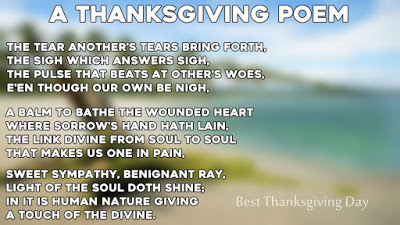 Short Happy Thanksgiving Day Poems for Family and Friends
