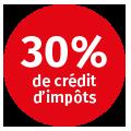 30%creditimpots