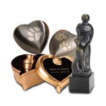 Pet urns are available in a great number of designs and sizes