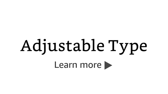 Adjustable Type