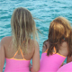 Little girls on boat