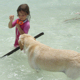 Seaweed fetches for little girl