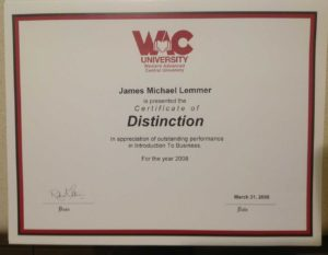 James Michael Lemmer | Certificate-of-Distinction-2008