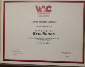 James Michael Lemmer | Award-of-Excellence-2011